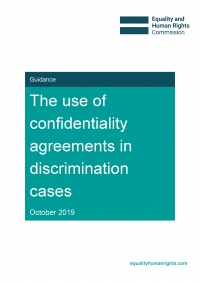 Publication cover: the use of confidentiality agreements in discrimination cases