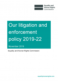 Publication cover: Our litigation and enforcement policy 2019 to 2022