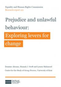 Publication cover: Prejudice and unlawful behaviour report