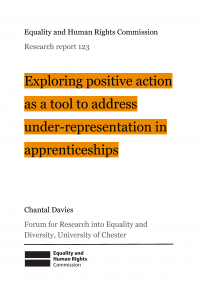 Publication cover: positive action on apprenticheships