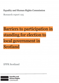 Publication cover: Barriers to political participation in Scotland