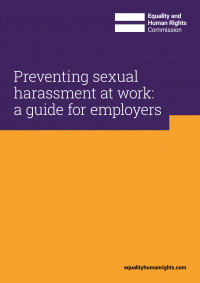 Publication cover: preventing sexual harassment at work
