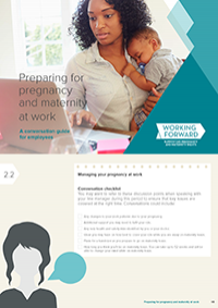 Publication cover: Preparing for pregnancy and maternity at work
