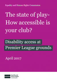 Publication cover: The state of play - how accessible is your club?