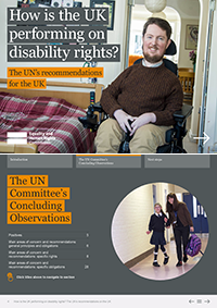 Publication cover: How is the UK performing on disability rights?