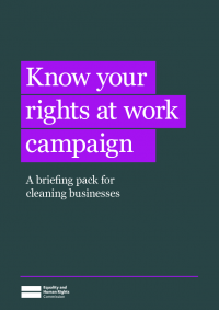 cleaners rights know your rights briefing pack for cleaning businesses
