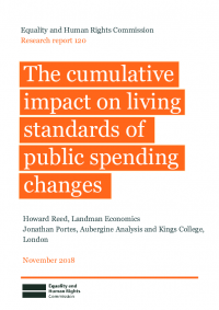cumulative impact on living standards of public spending changes