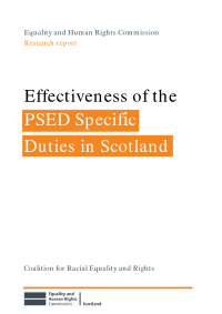 effectiveness of psed specific duties scotland