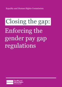 gender pay gap enforcing the regulations
