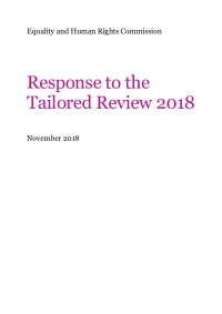 government tailored review 2018 formal response