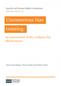 research report 113 unconcious bais training an assessment of the evidencw for effectiveness pdf