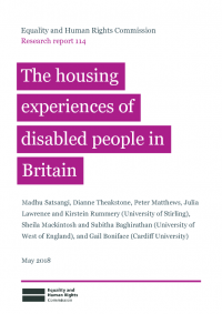 research report 114 housing and disabled people experiences in britain