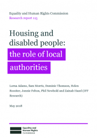 research report 115 housing and disabled people the role of local authorities