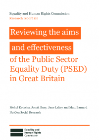 review of public sector equality duty psed effectiveness