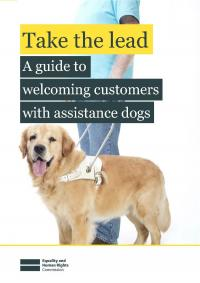 Man with an assistance dog