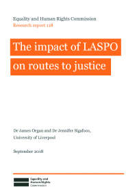 the impact of laspo on routes to justice
