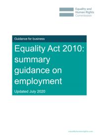 Summary guidance on employment