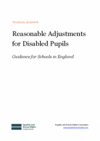 This is the cover for Reasonable adjustments for disabled pupils England