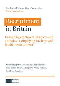 Recruitment in Britain publication cover