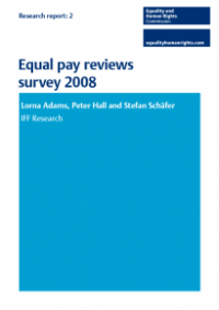 This is the cover of Research report 2: Equal pay reviews survey 2008