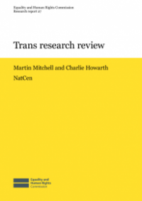 This is cover for Research report 27: Trans research review publication