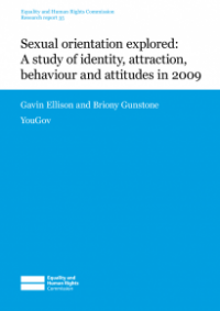 This is the cover Research report 35: Sexual orientation explored - a study of identity, attraction, behaviour and attitudes in 2009