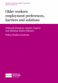 This is the cover for Research report 43: Older workers - employment preferences, barriers and solutions