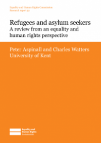 This is the cover for Research report 52: Refugees and asylum seekers - a review from an equality and human rights perspective