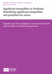 This is the cover for Research report 61: Significant inequalities in Scotland - identifying significant inequalities and priorites for action