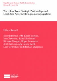 This is the cover of Research report 63: The role of local strategic partnerships and local area agreements in promoting equalities