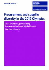 This is the cover of Research report 6: Procurement and supplier diversity in the 2012 Olympics
