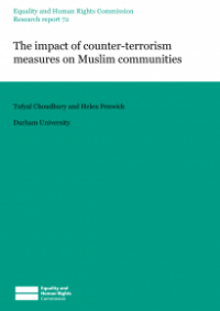 This is the cover of Research report 72: The impact of counter-terrrorism measures on Muslim communities