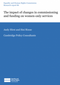 This is the cover of Research report 86: The impact of changes in commissioning and funding women-only services