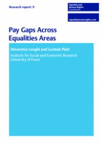 This is the cover of Research report 9: Pay gaps across equalities areas