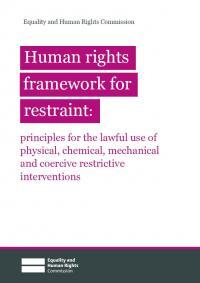 Restraint framework front cover