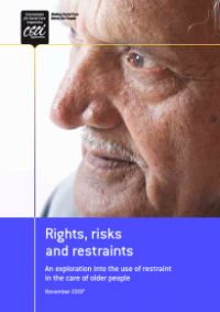This is the cover of Rights, risks and restraint publication