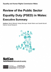 This is the cover for Review of the public sector equality duty in Wales executive summary