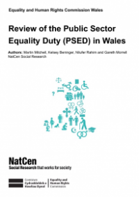 This is the cover of Review of the public sector equality duty in Wales