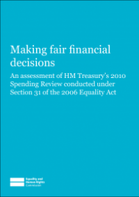 This is the cover for Making fair financial decisions - an assessment of HM Treasury's Spending Review 2010