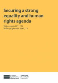 This is the cover of Securing a strong equality and human rights agenda publication