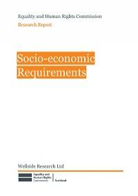 Cover of Socio-Economic Requirements research report