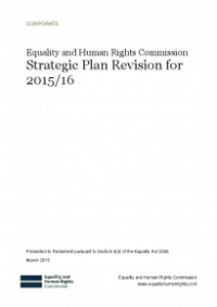 This is the cover of the Commission's Strategic plan revision for 2015/16