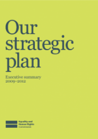 This is the cover of the the Commission's Strategic plan 2012-15 summary