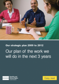 This is the cover of Our plan of the work we will do in the next 3 years (Strategic Plan Easy Read)