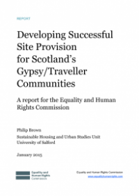 This is the cover of Developing successful aite provision for Scotland's gypsy/traveller communities