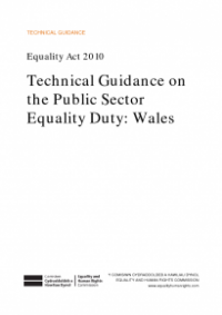 This is the cover of Techincal guidancfe on the public sector equality duty - Wales