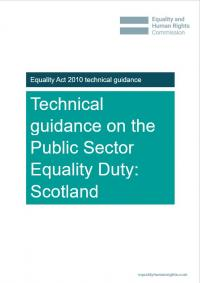 Publication cover: Technical guidance on the public sector equality duty in Scotland