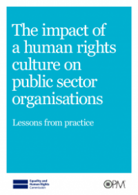 This is the cover for Teh impact of a human rights culture on public sector organisations