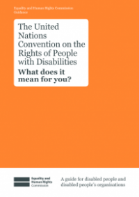 This is the cover for United Nations Convention on the Rights of People with Disabilities: what does this mean for you? publication
