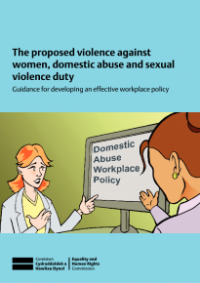 This is the cover for The proposed violence against women, domestic abuse and sexual violence duty guide